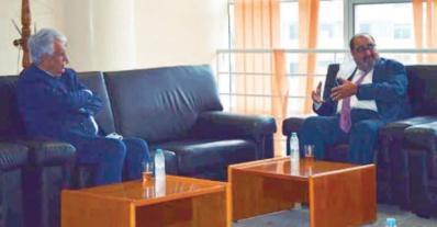 Driss Lachguar reçoit l'ambassadeur de Palestine à Rabat