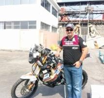 Dakar 2013 : Le pilote marocain Harite Gabari sur la ligne de départ