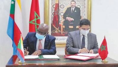 Cinq accords maroco-comoriens signés à Rabat