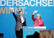 Le parti de Merkel au plus haut dans les sondages