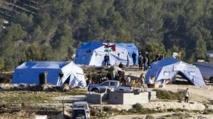 Des Palestiniens érigent un village de toile près de Jérusalem