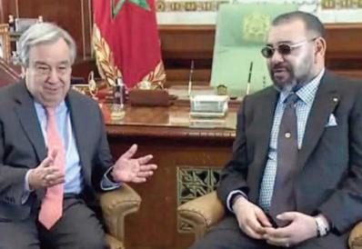 S.M le Roi s'entretient par téléphone avec le Secrétaire général de l'ONU