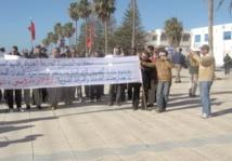 Les habitants d'Essaouira Al Jadida battent le pavé