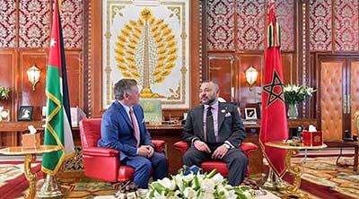 S.M Mohammed VI s'entretient par téléphone avec S.M le Roi Abdallah II Ibn Al Hussein