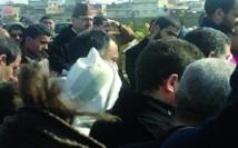 Driss Lachgar et Noubir Amaoui aux funérailles de Ba Bouchaib Rahali