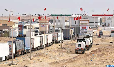 Condamnation du blocus économique exercé par le Polisario contre l' ensemble des peuples africains