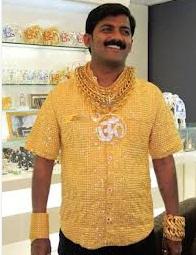Insolite : Un homme d'affaires indien s'offre une chemise en or