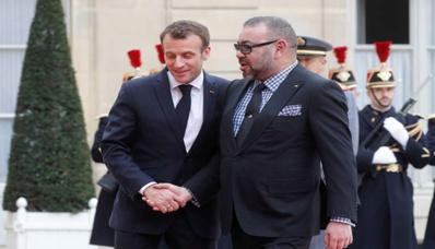 S.M le Roi souhaite prompt rétablissement au Président de la République française