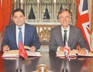 Rabat et Londres se félicitent de l'application de leur Accord d'association dès janvier