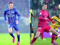Beckham et Ibrahimovic, en clair-obscur