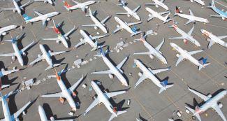 Les avions cloués au sol