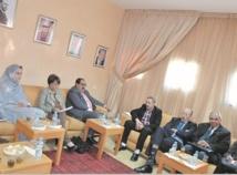 Le Premier secrétaire de l'USFP s'entretient avec  l'ambassadeur d'Irak et le président du Réseau amazigh