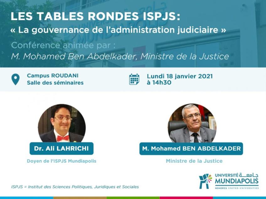 Mohamed Benabdelkader invité des tables rondes de l'ISPJS