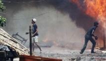 La Birmanie à feu et à sang