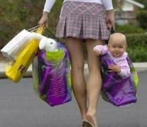 """Insolite : """"Ma maman est partie faire du shopping"""""""