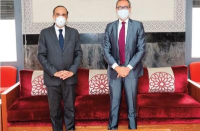 Habib El Malki s ' entretient avec le représentant résident du Fonds des Nations unies pour la population