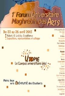 Coup d'envoi à Rabat du 1er Forum universitaire maghrébin des arts
