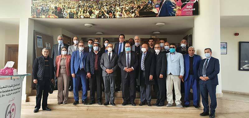 Driss Lachguar reçoit le président de la FRMHB, une délégation des présidents des communes d'El Kelaâ des Sraghna et le Pr. Allal Basraoui