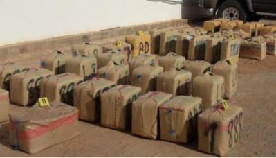 Mise en échec d' opérations de trafic international de drogue à Mehdia et à El Jadida