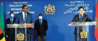 Entretiens à Rabat entre les chefs des diplomaties marocaine et zambienne