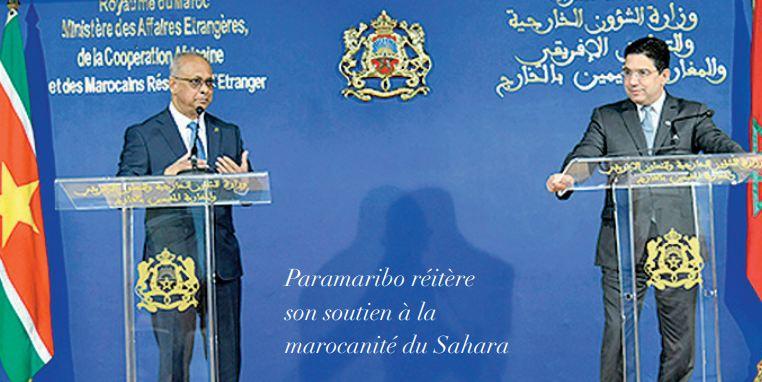 Prochaine ouverture d' une ambassade du Suriname à Rabat et d' un consulat à Dakhla