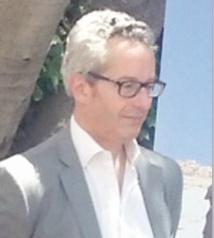 Bertrand Commelin et Alexandre Pajon, directeur général de l'Institut français du Maroc et commissaire du Salon