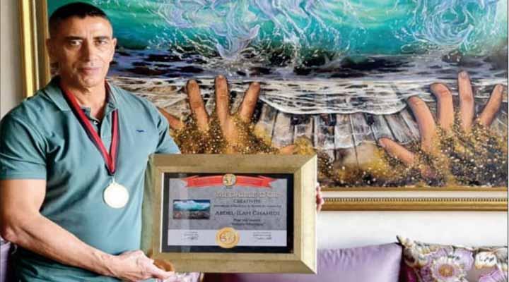 L'artiste-peintre Abdelilah Chahidi remporte la médaille d' or de l'IAPA