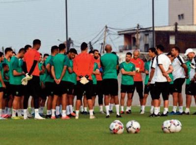 La sélection nationale des joueurs locaux en stage à Maâmora