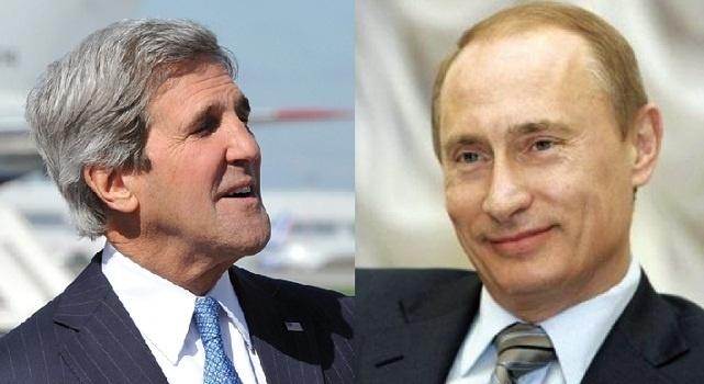 Rencontre à Moscou entre John Kerry et Vladimir Poutine