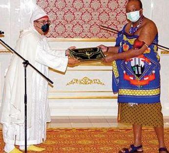 Youssef Amrani présente ses lettres de créance au Roi Mswati III