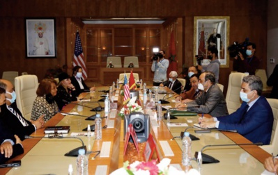 Habib El Malki reçoit Carol Moseley Braun