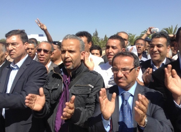 Sit-in de solidarité à Agadir