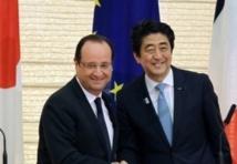 Le président français François Hollande en visite  d'Etat au Japon