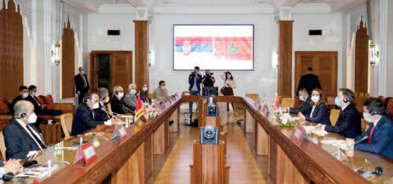 La Serbie salue la politique sage de S.M le Roi sur les plans national et international
