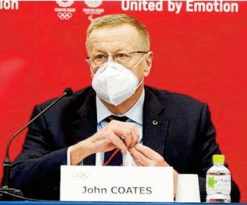 John Coates : Rien ne peut empêcher les JO d'avoir lieu comme prévu