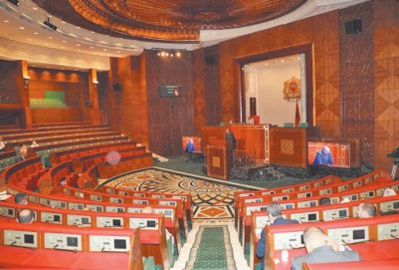 Report de la séance mensuelle de politique générale de la Chambre des conseillers