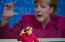 Angela Merkel en campagne électorale