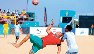 CAN de beach-soccer: Carton d' entrée pour l'EN
