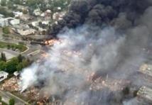 80 disparus dans l'explosion d'un train au Québec