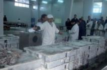 Grève à la halle aux poissons de Laâyoune
