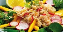 Recette : Salade de crabe à la mangue