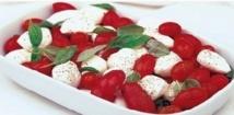 Recette : Salade de fromage aux tomates cerise et basilic