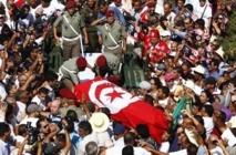 Tensions lors des funérailles de Mohamed Brahmi