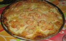 Recette :  Pizzas au fromage et aux crevettes
