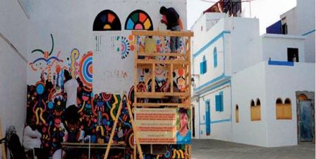Les fresques murales du Moussem d'Asilah redonnent vie à la cité des arts