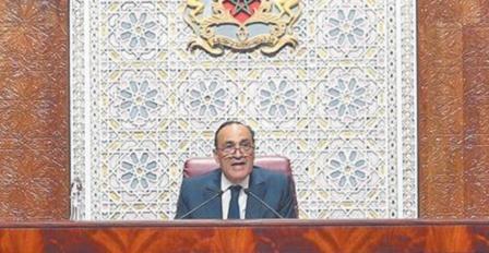 Message de fidélité et de loyalisme à S.M le Roi du président de la Chambre des représentants