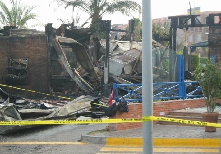 Un McDonald's ravagé par le feu à Marrakech