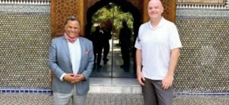 Gianni Infantino visite le musée Dar El Bacha de Marrakech