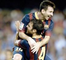 Lionel Messi frappe fort d'entrée