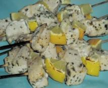 Recette : Brochettes de thon blanc et citron